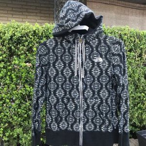 The North Face Black & White Hoodie Jacket Sz M